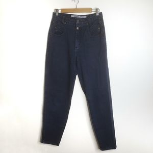 Vtg Zena Jeans Dark Wash High Waisted Mom Jean